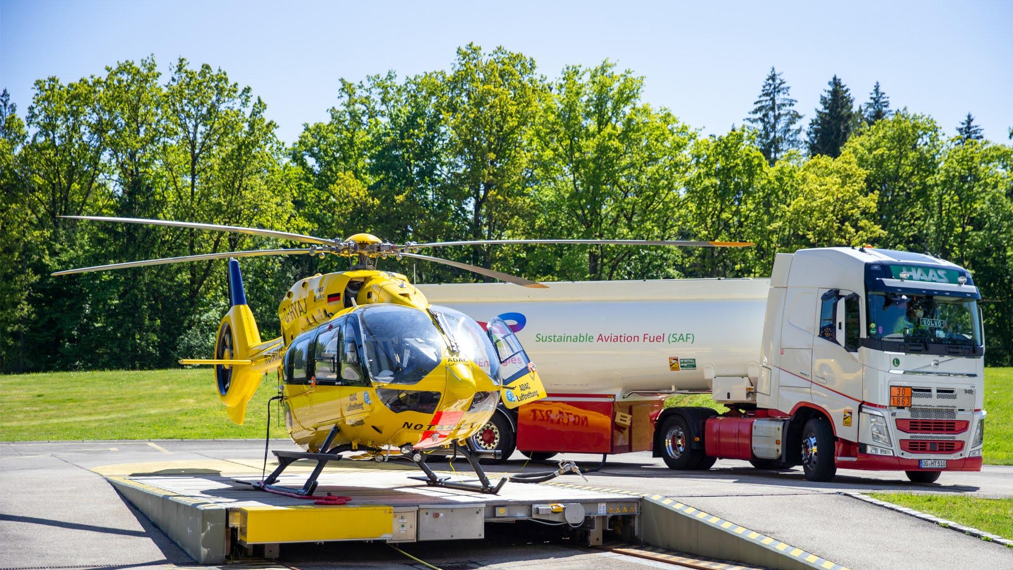 Rettungshubschrauber fliegt mit Kerosin aus Abfall